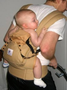 Lex has always feared the vacuum, but never when he is in the Ergo Baby Carrier