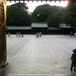 Tokyo Meiji Jingu Shrine with Toddler