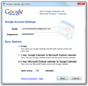 Google Calendar Sync Options for Microsoft Outlook Synchronization